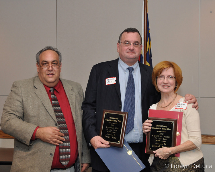 VP UCRMC Rick Alexander, Parker Mills-Man of the Year, Deborah Barton-Woman of the Year