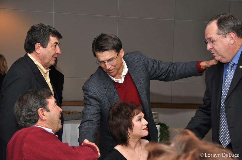 Pat McCory greeting guests