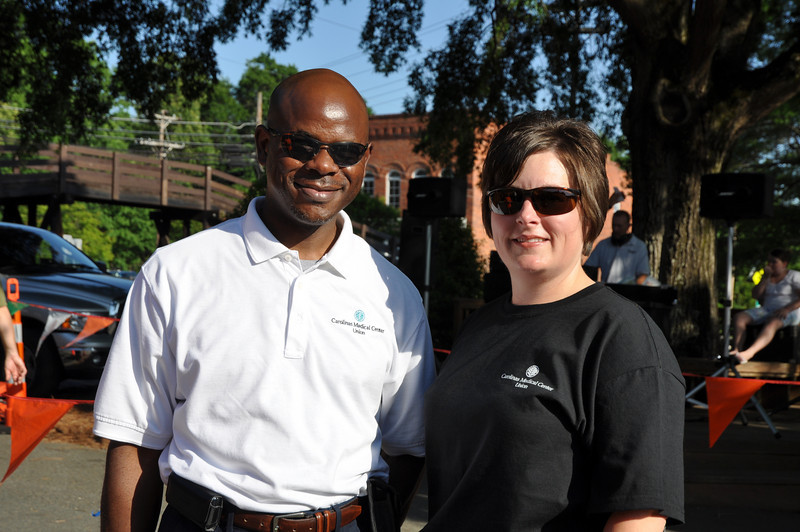 CMC Union race volunteers liberty Stroman and Byron Pouges