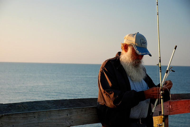 Early Morning Fisherman<br /> Oak Island, NC