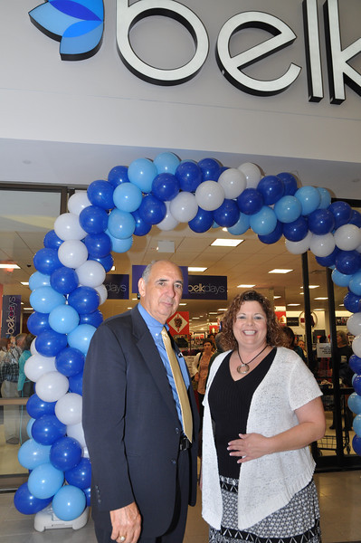 Belk's Opening Celebration at Monroe Crossing with Mayor Kilgore and Union County Chamber President Sharon Rosche.