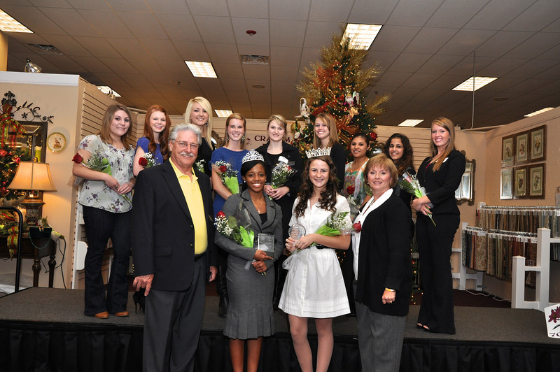 The 2011 UC Christmas Parade Princess Adrienne Laniak (UA) was crowned and awarded $4000.00-the Alex Kahle Memorial Scholarship. She was selected from 11 High Schools and will lead the Christmas parade along with her High School organizations. Second scholarship was awarded First Annual Spirit Scholarship $1000.00.to Jada Campbell (CATA) Monroe's The Shops at Nottingham hosted this great event and crowning ceremony.
