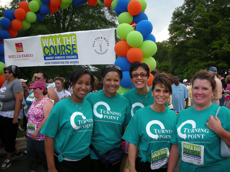 Turning Point Shelter Volunteers Walk the Course Against Domestic Violence