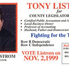 Client: Tony Listrom<br /> Photo for local political campaign.  Used for hand-outs, signs, posters, etc.