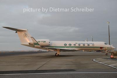 2018-12-18 5N-FGW Gulfstream 5 Nigerian Air Force