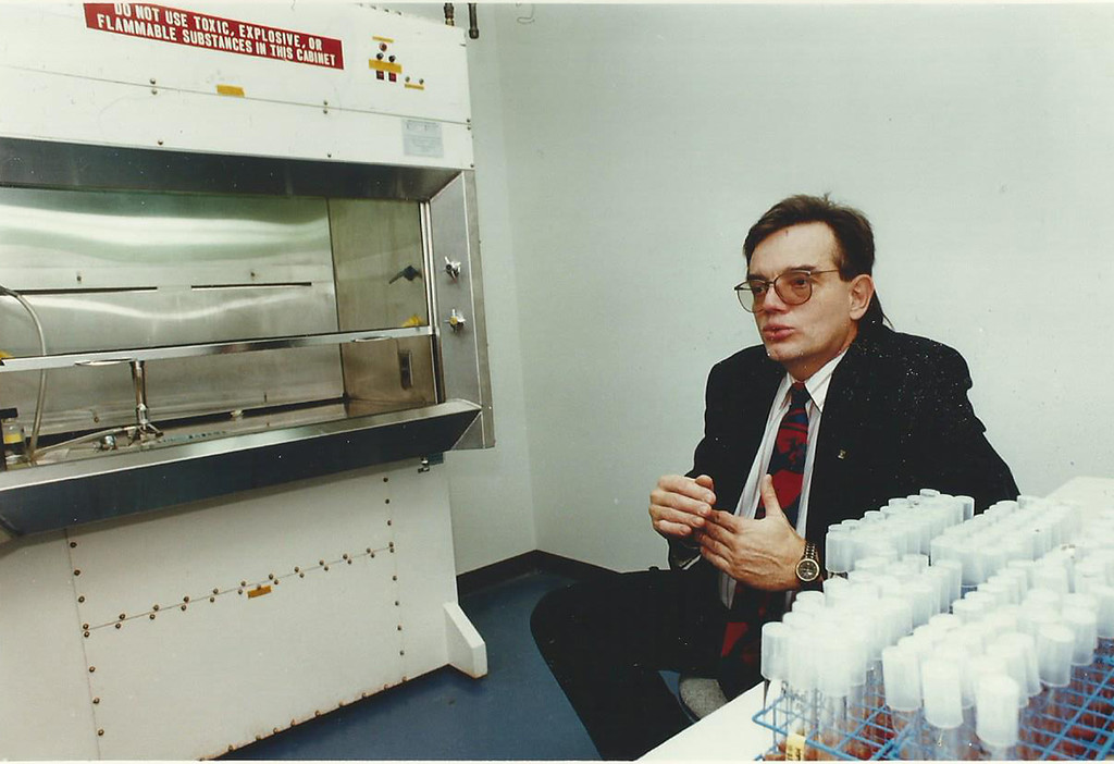 . 1993: Ray Kravolic, who played a key role in developing the sterilization systems that have made STERIS Corp. of Mentor a success, is shown in one of the company�s laboratories. STERIS Mentor ranked as the No. 1 Emerging company on the Fast Track 50 in 1993, the inaugural year for the event. News-Herald file