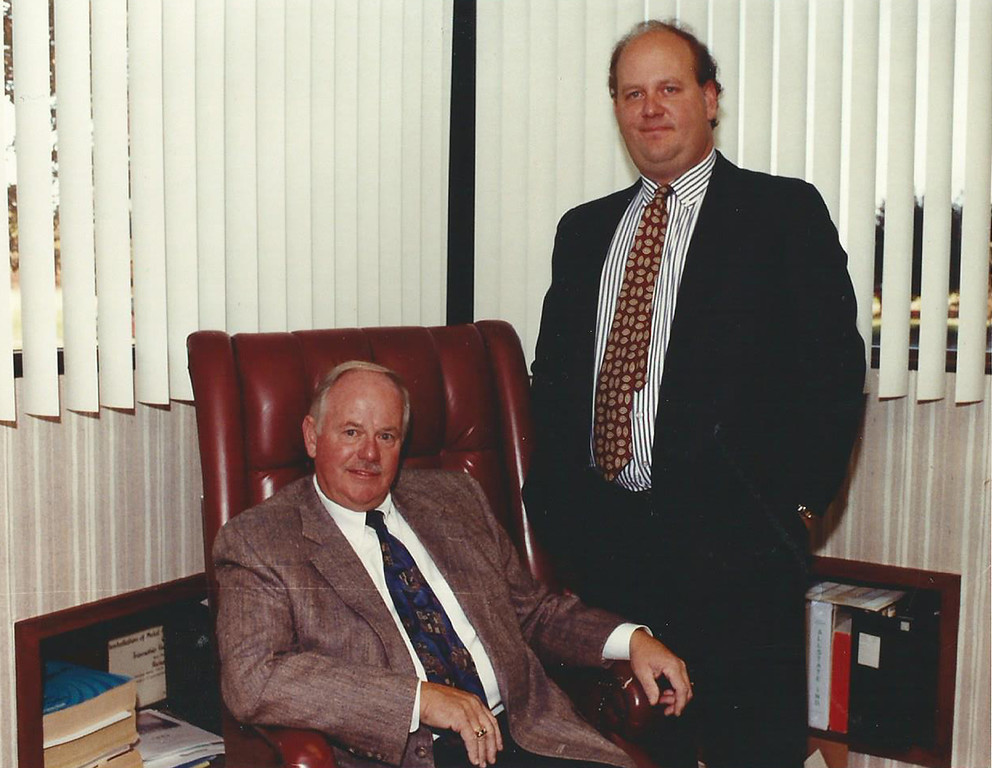 . 1992: Richard G. Small, president and CEO of Cleveland Construction Inc., seated, is shown with his son, Mark T. Small, senior vice president of the company. Cleveland Construction of Mentor ranked as the No. 1 Established company on the Fast Track 50 in 1993, the inaugural year for the event. News-Herald file