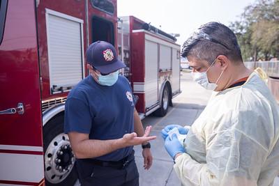 April 16, 2020 Gordon Center COVID Testing Hialeah Fire-120