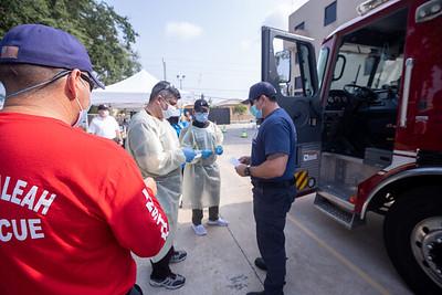 April 16, 2020 Gordon Center COVID Testing Hialeah Fire-117