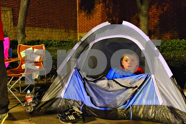 6th grader Coalton Phillips has been in line with mom at Best Buy since 8:00 Wednesday night waiting for deals which began at midnight on Black Friday.