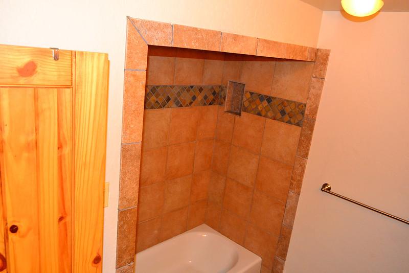 Upstairs bathroom shower