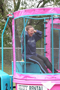 Kathie Henry after being dunked