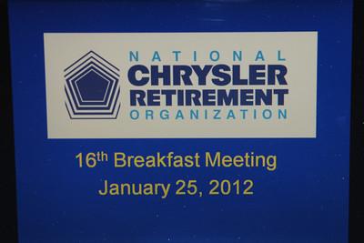 NCRO Meeting 2012 01 25