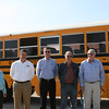 Rush Trucks displays the newest propane-powered Blue Bird School bus hot off the assembly line.