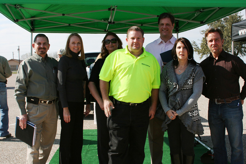On February 7, 2012, JR Anderson of Gas Equipment Co. and the sales team from Amerigas check out the latest propane powered equipment and vehicles at Propane Roadshow in Temple.
