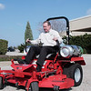 Rep. Ralph Sheffield test drives a Snapper Pro propane powered commercial mower to find you do not have to sacrifice performance to go green.