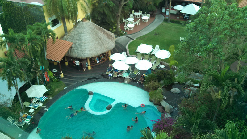 at the Hotel in Cuernavaca (my view from 6th floor)