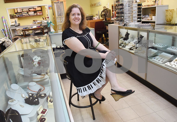Ginger Graf of Graf's Antiques and Jewelry is pictured in her store in downtown Gladewater Friday Feb. 10, 2017. Graf sells vintage jewelry and pieces she has made herself.  (Sarah A. Miller/Tyler Morning Telegraph)