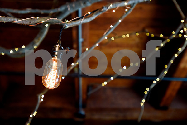Lighting and decor at Co.Work in Tyler, Texas, on Tuesday, March 21, 2017. Co.Work is a rent-a-desk and collaborate space for professionals who don't want the structure or expense of a full office. (Chelsea Purgahn/Tyler Morning Telegraph)