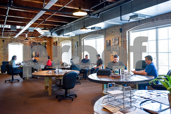 The space at Co.Work in Tyler, Texas, on Tuesday, March 21, 2017. Co.Work is a rent-a-desk and collaborate space for professionals who don't want the structure or expense of a full office. (Chelsea Purgahn/Tyler Morning Telegraph)