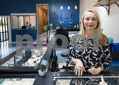Owner Tina Yancey is pictured Thursday at Blue The House of Jewelry. The business is now open at the Sonoma Village shopping center in Tyler.  (Sarah A. Miller/Tyler Morning Telegraph)