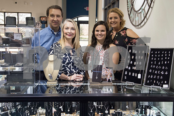 Jeweler Steve Neel, owner/operator Tina Yancey, office manager Lacee Fetterman and certified wedding planner Laura Ann Herrington are pictured at Blue The House of Jewelry. The business is now open at the Sonoma Village shopping center in Tyler.  (Sarah A. Miller/Tyler Morning Telegraph)