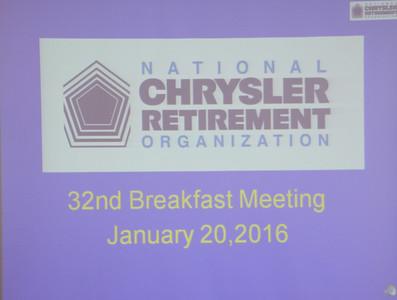 32nd Breakfast Meeting January 20, 2016