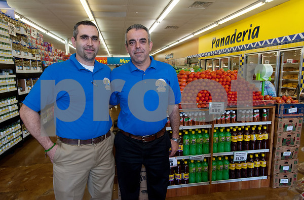 Supermercado Del Pueblo is owned by brothers Pedro and Alex Zarrag, pictured here. The new grocery store is located at 2311 W. Erwin St. in Tyler.  (photo by Sarah A. Miller/Tyler Morning Telegraph)