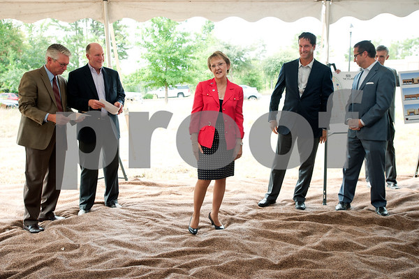 photo by Sarah A. Miller/Tyler Morning Telegraph  Tyler Mayor Barbara Bass speaks during a groundbreaking ceremony in Tyler Tuesday for the Village at Cumberland Park. The new 750,000 square foot shopping center will offer more than 90 retailers and will create 2,000 new jobs. Many tenants will be new to Tyler, but the Village at Cumberland Park will also include some relocations of current stores and second locations for some stores.