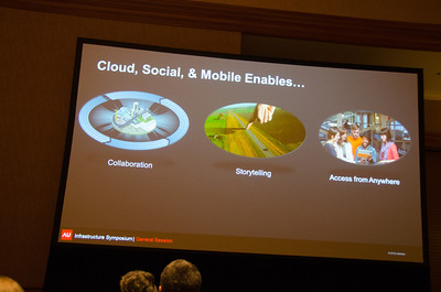 Justin Lokitz on the Cloud, Social, and Mobile Justin Lokitz discusses the things cloud, social, and mobile affords design teams during Monday's Infrastruture Symposium at Autodesk University 2012.