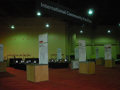 Exhibit Hall Setup - AUGI Booth