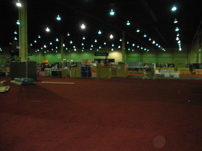 Exhibit Hall Setup