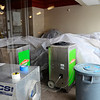 Furniture is covered in a sale-room in Gariepy Furniture, Monday, after a fire broke out in an apartment above the store on Central St. in Leominster on Saturday. SERVPRO provided dehumidifier and ventilation services due to smoke damage.<br /> SENTINEL & ENTERPRISE / BRETT CRAWFORD