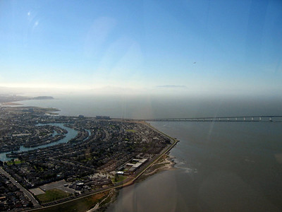 Foster City, San Mateo Bridge, Treasure Island in the distance