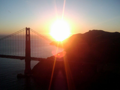 Golden Gate at sunset. Credit Amber Mathrole.