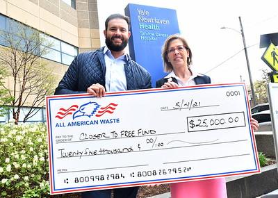 All American Waste Check Presentation - May 4, 2021