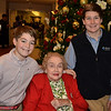 "TITLE:  ""A Legacy of Creativity takes Flight""        Meet Clare Peter and her two very handsome grandsons, Andrew and Walter,  here at a Greens' holiday Gala."