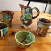 Ceramics by Christina Benander, at the Artisans Exchange in Central Square, Chelmsford.  (SUN/Julia Malakie)