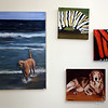 Oil paintings by Christine Winship at the Artisans Exchange in Central Square, Chelmsford.  (SUN/Julia Malakie)