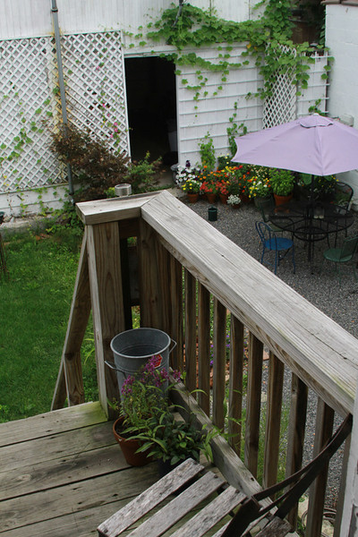 Back deck overlooking yard.