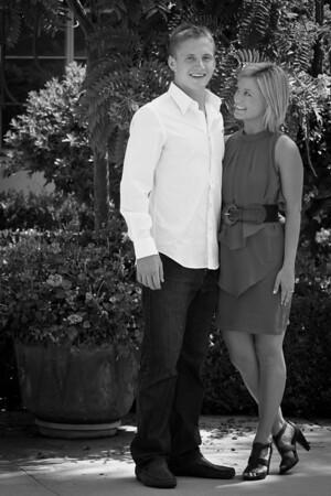 Ashlee and Ian Engagement - Black and White