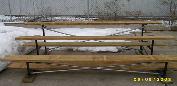 Used - Little League Bleacher - 3 row bleacher