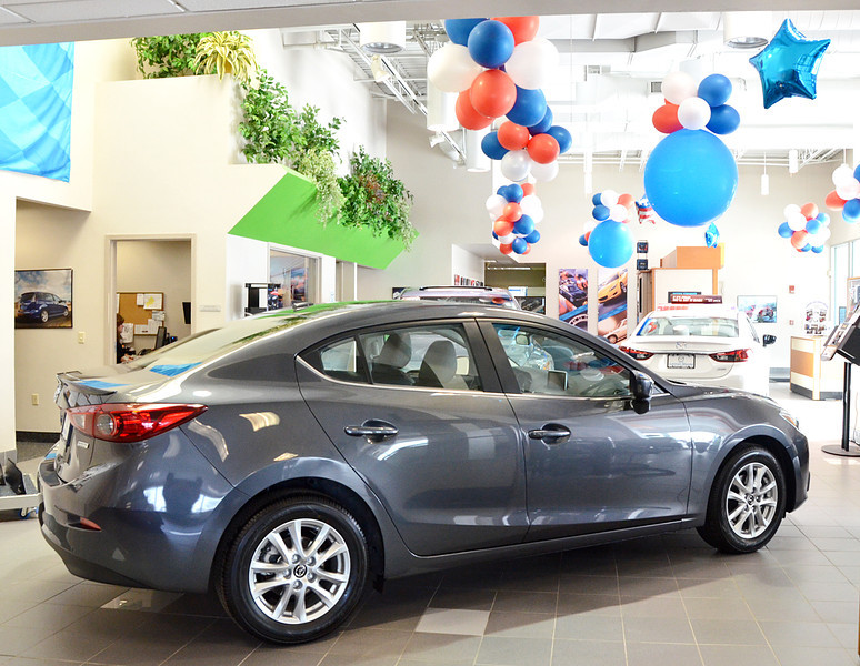 2/9/14 -- Cars_PresidentsDay -- The showroom at Lannan Mazda located at 720 Rogers St. in Lowell. (SUN/Ashley Green)