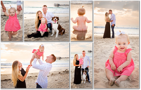 Family Portraits with toes in the sand!