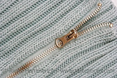 Open Zipper on Sweater - knitting pattern with purls and knits - adobe RGB