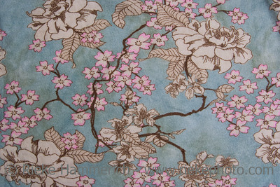 Floral Design on Fabric - Asian Style