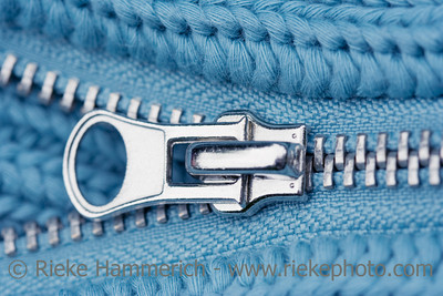 Close-up of an Open Zipper - part of a sweater - adobe RGB