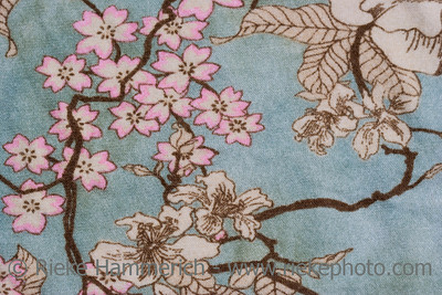 Close-up of a floral design on fabric - asian style - 18th century