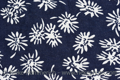 Floral pattern on fabric - close-up