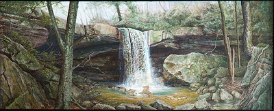 Cucumber Falls Painting by Mark Barill